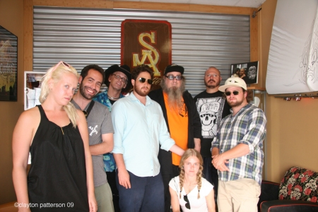 group shot with Estevan @ Mr. Cartoon studios