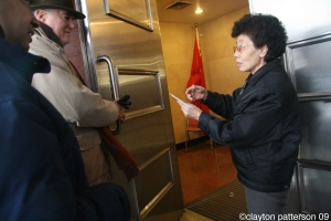 delivering PEN letter to Chinese Embassy